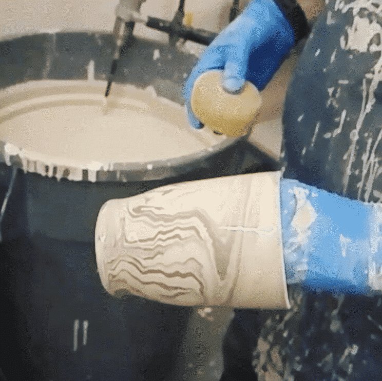 Marbling a Mug with Glazes