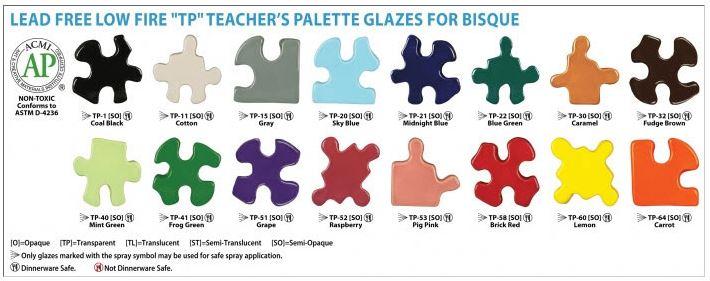 Amaco Glazes: Teachers Palette