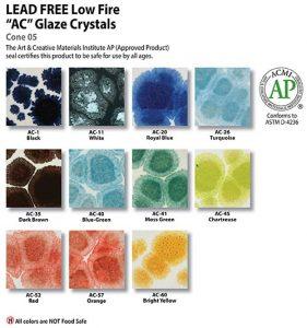 Amaco Glazes: Crystals