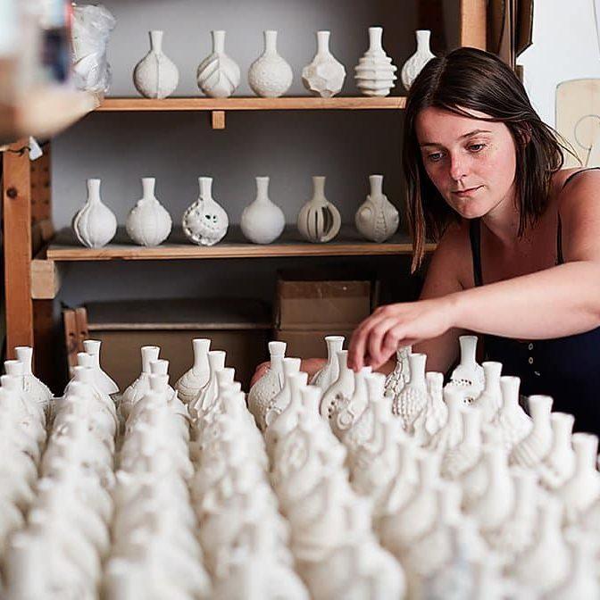 Anna in her studio